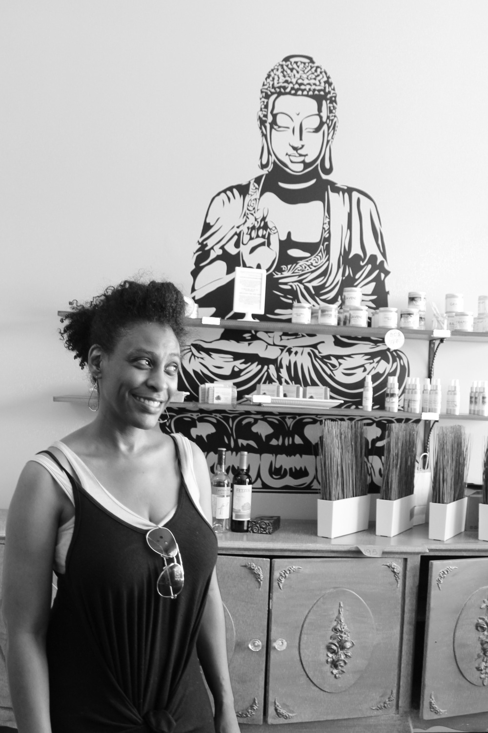 Kay smiling in her Mystical Apothecary and Creative Studio, a really interesting spot where she sells crystals, essential oils, alternative healing and more. She is an advocate for people visiting and shopping along Pico, something I which couldn't agree more with.